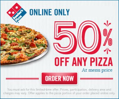 Dominos pizza coupons india