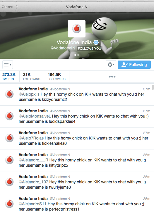 Official Vodafone twitter account hacked -CDI